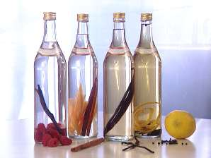 Fruit and spices infusing spirits