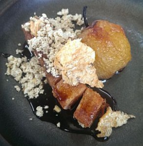Roast Pork Belly & Poached Apple